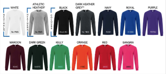 Men's Longsleeve Tee Colors