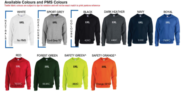 CREWNECK SWEATER Colors