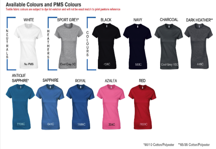 LADIES SUPER SOFT COTTON TEE colors